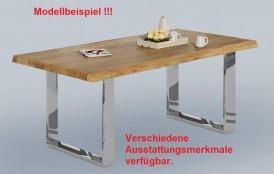 Flexibles Tischsystem in Wildeiche massiv geölt, die keine Wünsche offen läßt