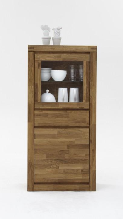 vitrine klein wildeiche massiv ge lt 2204 elfo m bel. Black Bedroom Furniture Sets. Home Design Ideas
