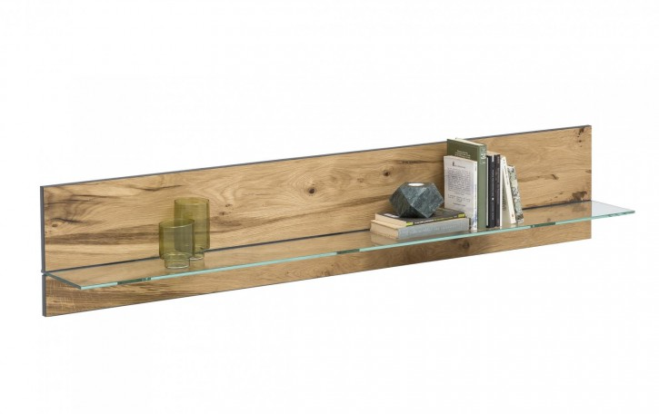 Wandboard XL Serie Jarek Balkeneiche mit Glasborte