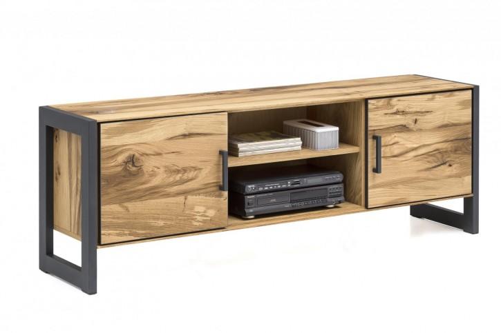 TV Lowboard XL Serie Jarek Balkeneiche mit Metall kombiniert