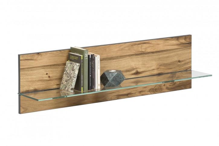 Wandboard Serie Jarek Balkeneiche mit Glasborte