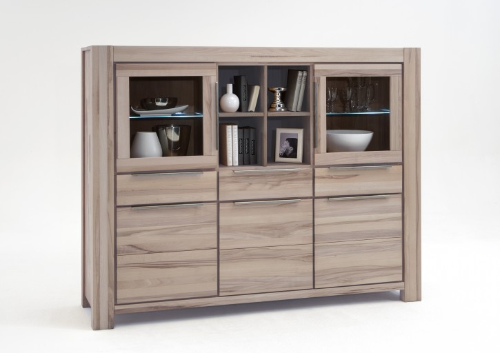 Highboard XL Wildeiche Sonoma massiv