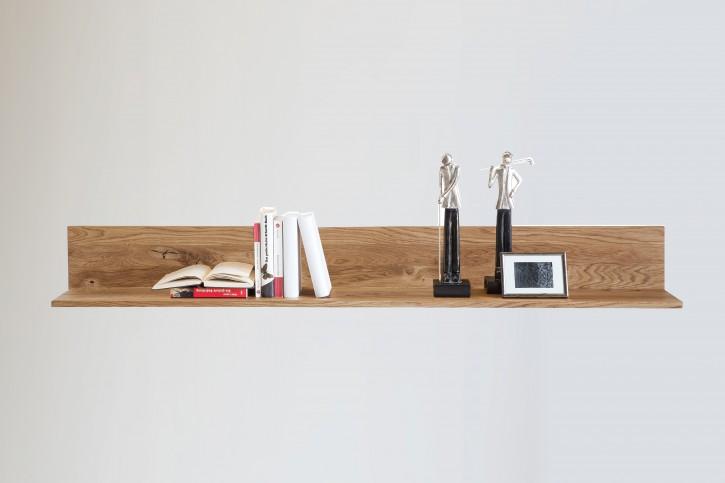 Wandboard L-Form 155 cm Wildeiche massiv geölt
