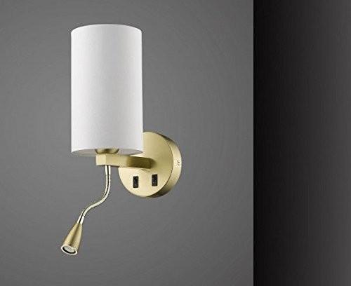 Sorpetaler Leuchten LED Wandleuchte und Wandlampe in Messing mit flexiblem Arm 550521