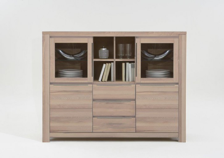 Highboard XL Borkum Wildeiche massiv sonoma