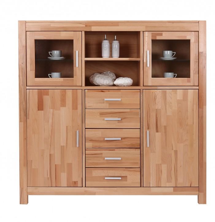 highboard kernbuche massiv ge lt nelly 6250 elfo m bel. Black Bedroom Furniture Sets. Home Design Ideas