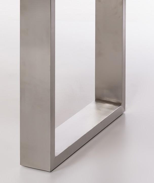 Fußgestell für flexibles Tischsystem 100x30 mm chromfarbend