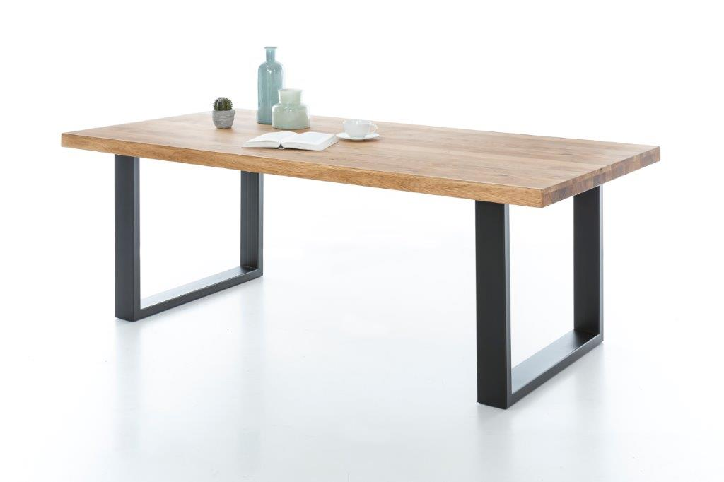4772 2550 tido tina wildeiche massiv esstisch schwarz. Black Bedroom Furniture Sets. Home Design Ideas