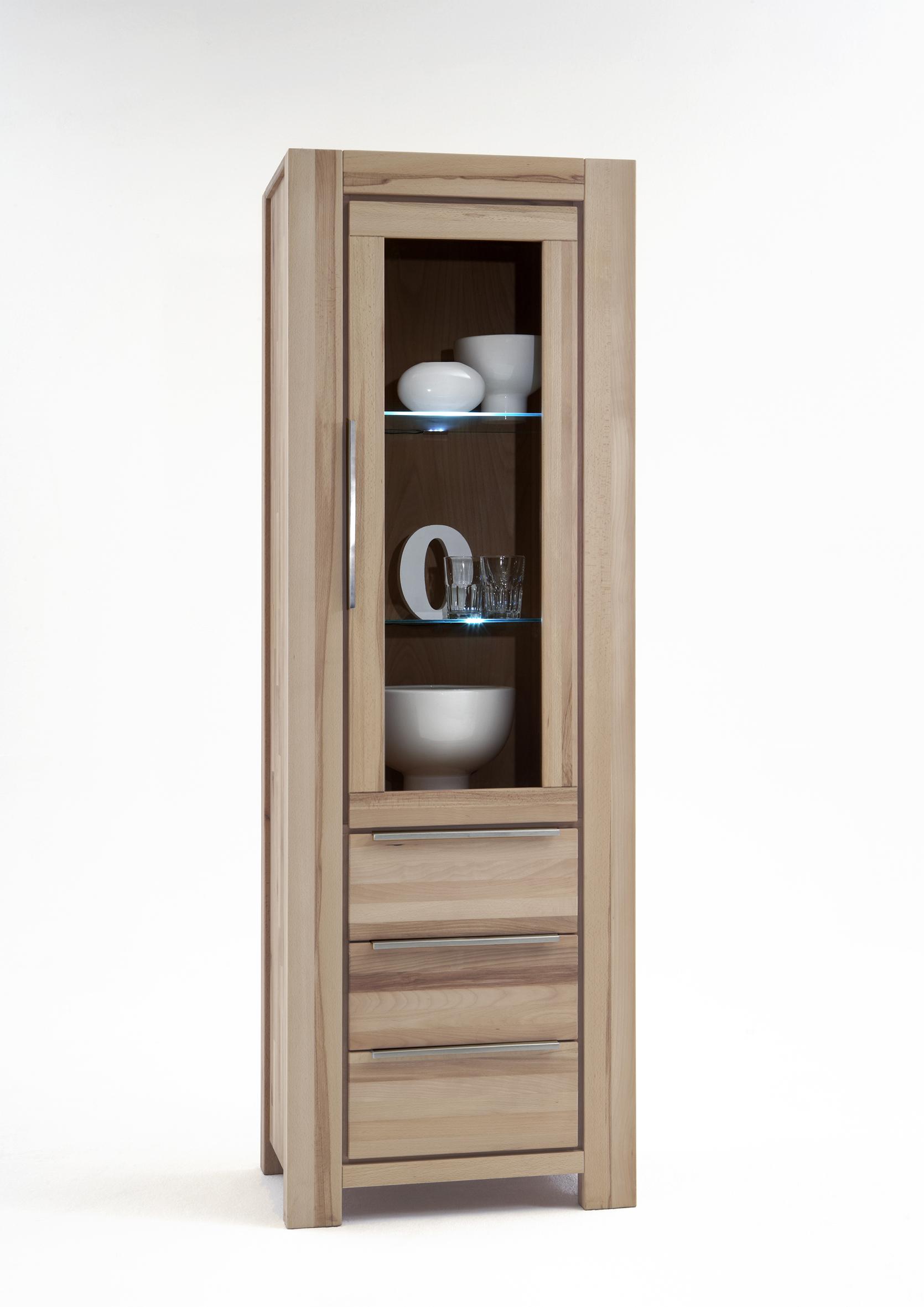 vitrine wildeiche sonoma s gerauh massivholz 2661 elfo. Black Bedroom Furniture Sets. Home Design Ideas