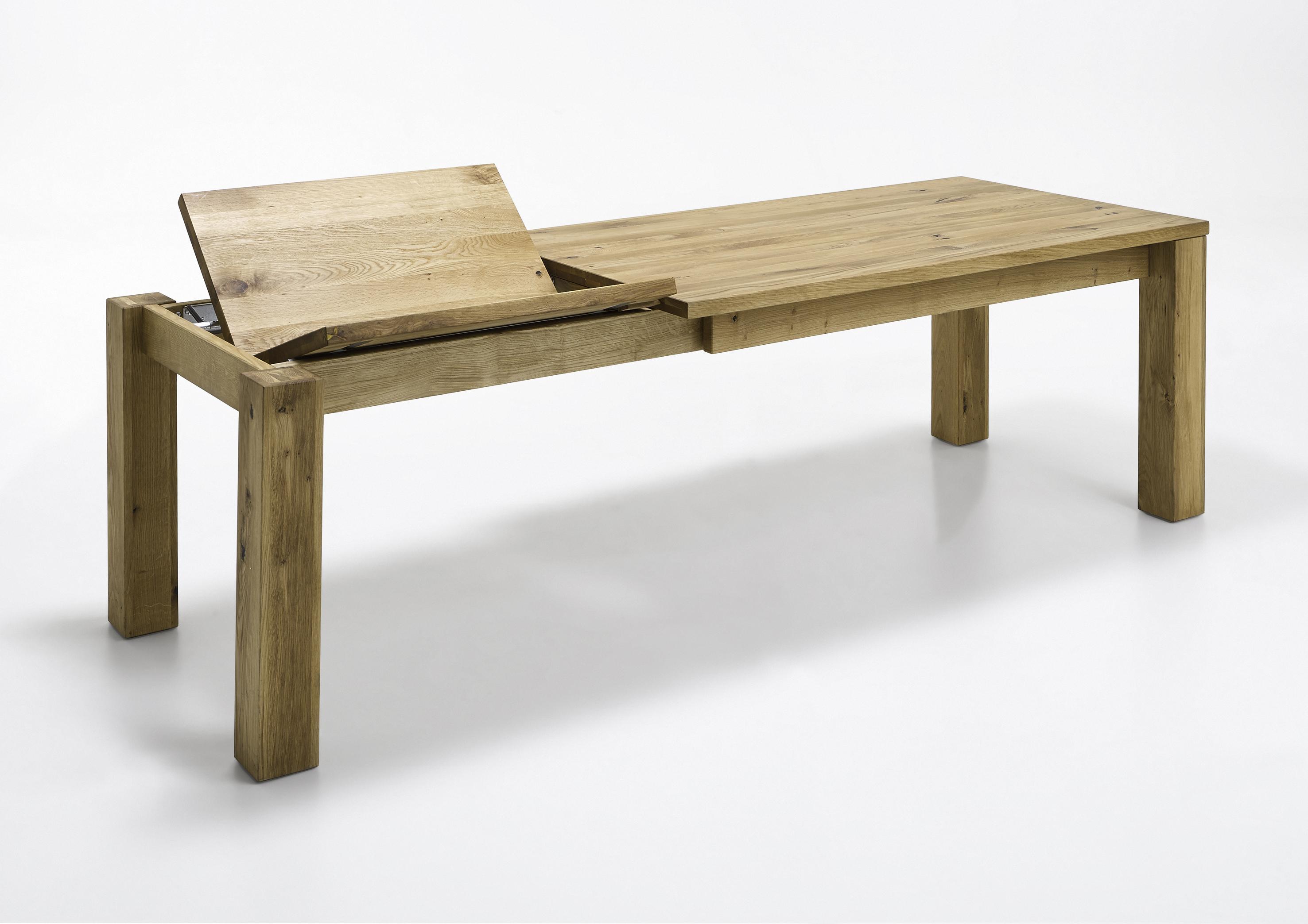 esszimmertisch wildeiche massiv 160x90 elfo m bel 2751 ausziehbar. Black Bedroom Furniture Sets. Home Design Ideas