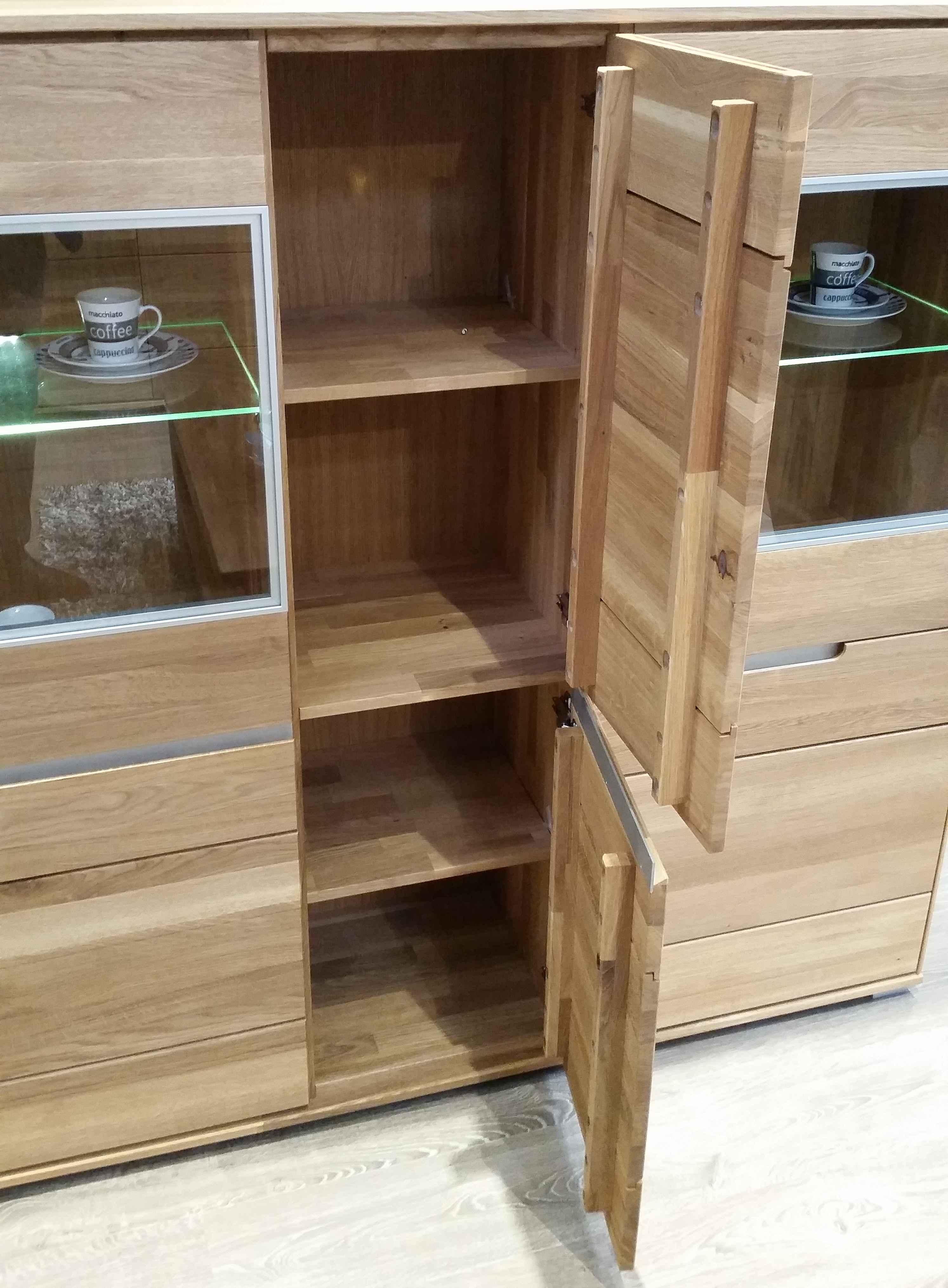 2995 lissy lissabon wildeiche massiv massivholz highboard. Black Bedroom Furniture Sets. Home Design Ideas