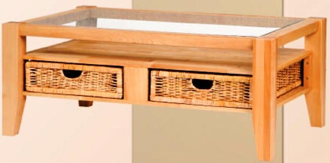 Couchtisch mit glaseinlage 110x70 cm ge lt 6265 nelly delft for Couchtisch mit glaseinlage