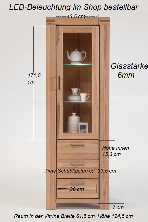 vitrine wildeiche sonoma massiv ge lt 7083 5861 elfo m bel. Black Bedroom Furniture Sets. Home Design Ideas