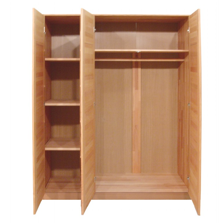 kleiderschrank tollow 3 t rig spiegel kernbuche massiv massivholz. Black Bedroom Furniture Sets. Home Design Ideas