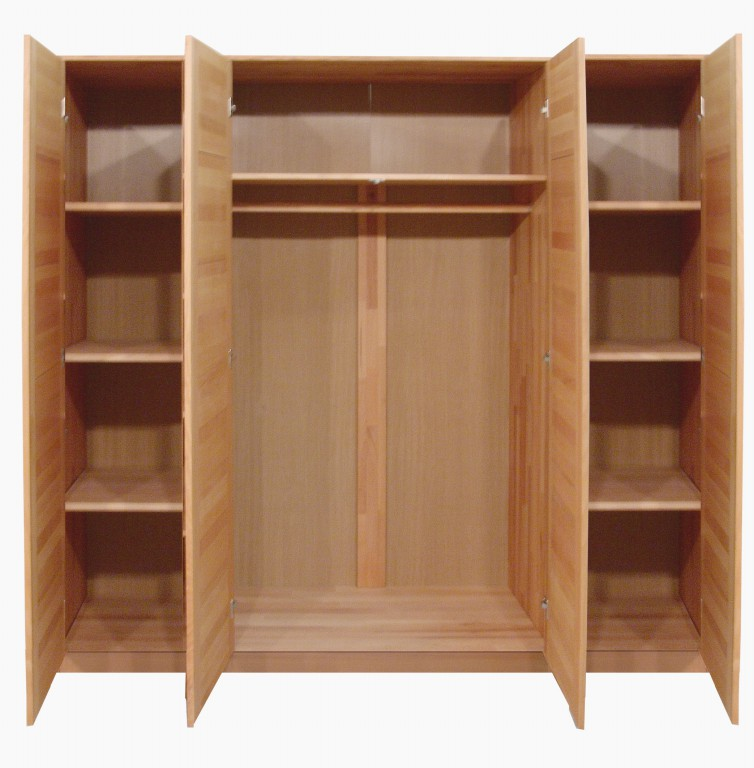 kleiderschrank tollow 4 t rig spiegel kernbuche massiv massivholz. Black Bedroom Furniture Sets. Home Design Ideas