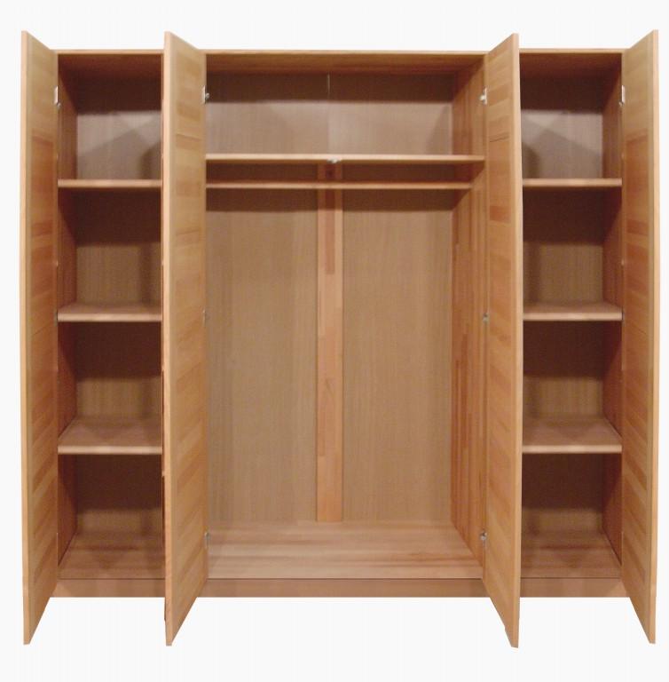 kleiderschrank tollow 4 t rig spiegel kernbuche massiv. Black Bedroom Furniture Sets. Home Design Ideas