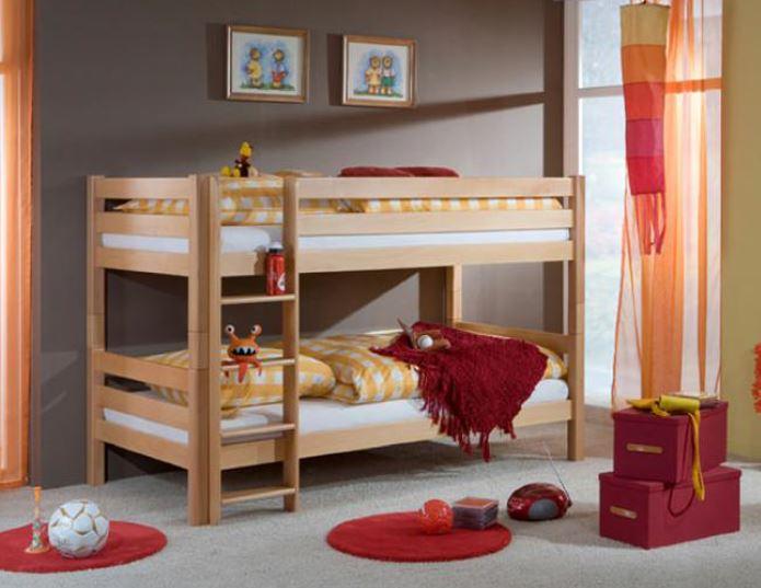 Etagenbett Massivholz : Schön vorhang für spielbett massivholz hochbett etagenbett