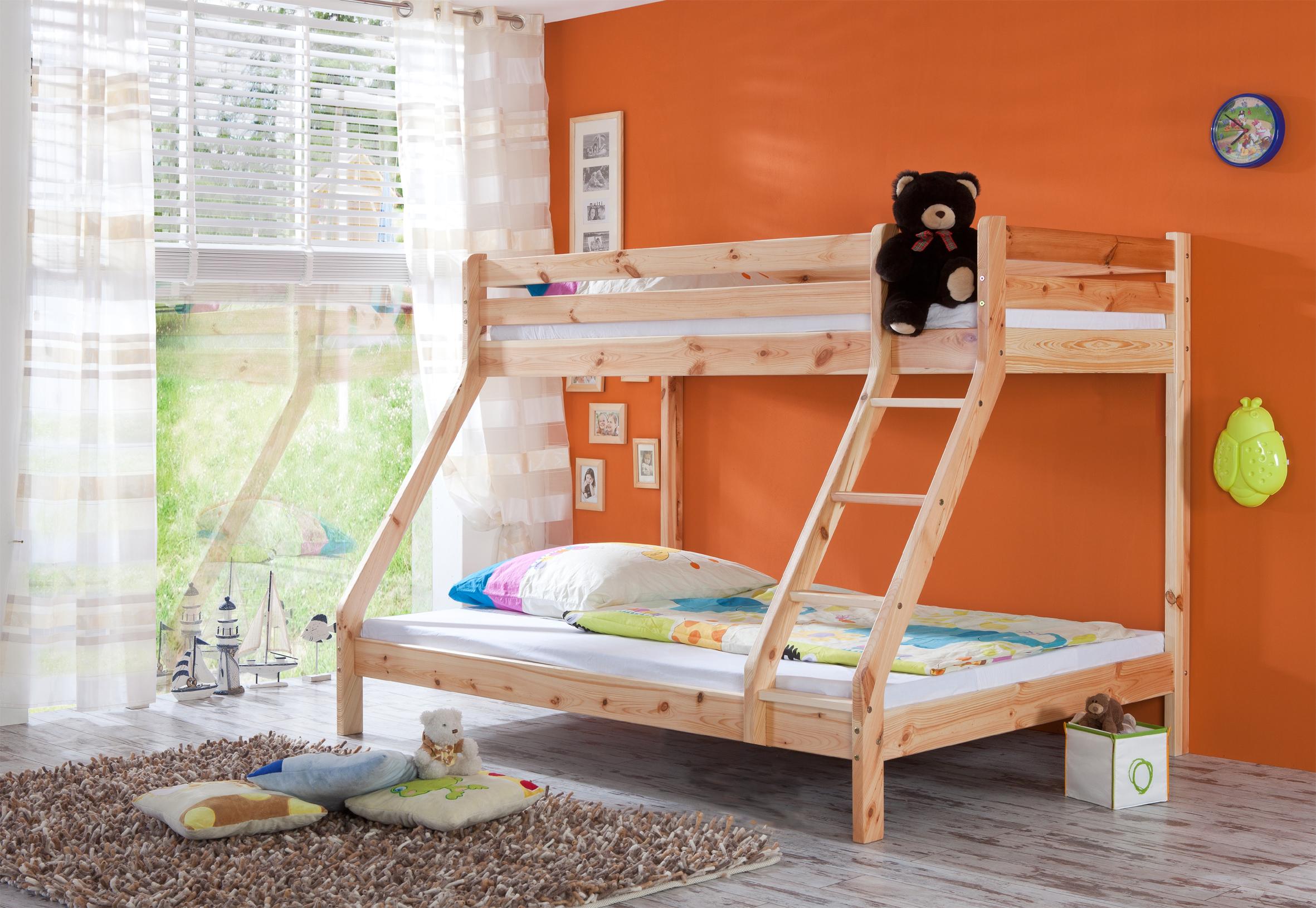 Etagenbett Eiche Massiv : Hochbett etagenbett stockbett kinderbett kinderzimmer rollrost