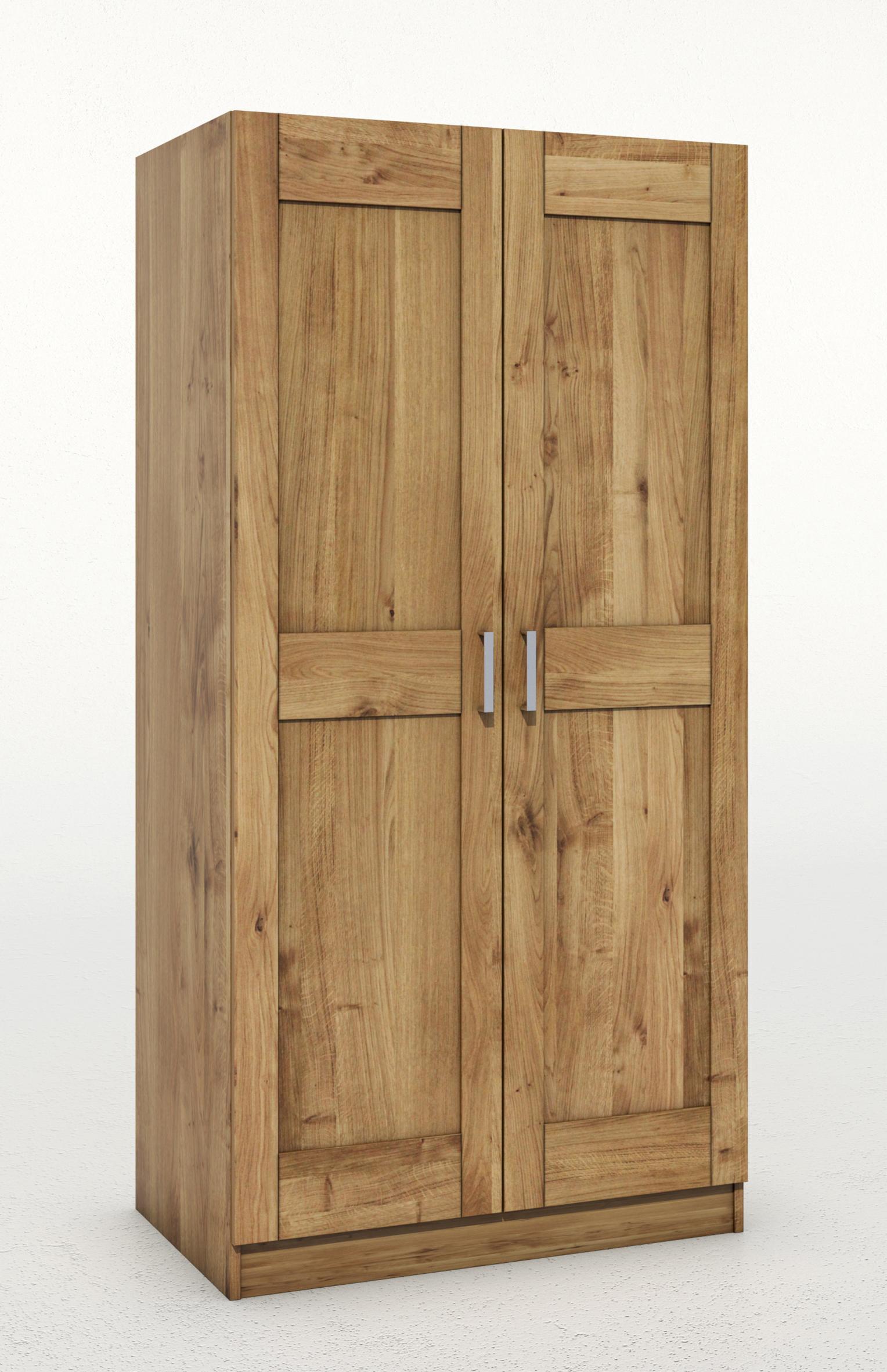 Kleiderschrank toni tommy Türig wildeiche teilmassiv massivholz 2türig