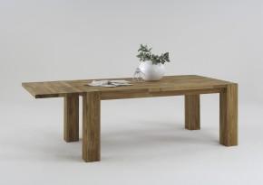 Esszimmertisch Wildeiche massiv 200x100 cm erweiterbar auf 300x100 cm Massivholz
