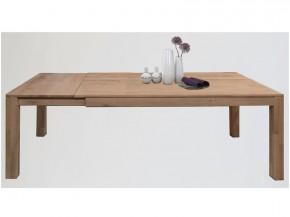 Esstisch mit Gestellauszug Wildeiche massiv, geölt ca. 180 x 90 cm